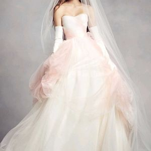 White by Vera Wang Ombre Tulle Wedding Dress